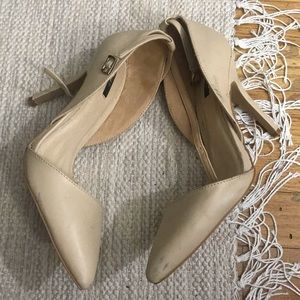 Forever21 Nude Ankle Strap Heels